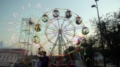 Ferris wheel, theme park, time lapse Arkistovideo