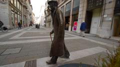 TRIESTE, ITALY - MART 03, 2016: Street in the Trieste Stock Footage