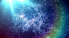 Dreaming - Blue Particles Imagination Stock Footage
