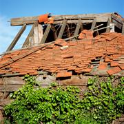 Stock Photo of Derelict house