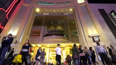 Stock Video Footage of dolby theatre - Los Angeles, Hollywood boulevard