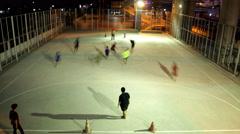 Open air futsal field Stock Footage
