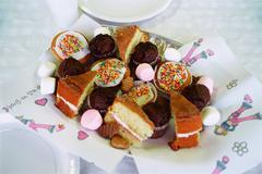Assortment of cakes Stock Photos