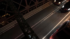 Traffic passing over The Brooklyn Bridge. Stock Footage