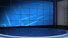 News TV Studio Set 113 - Virtual Green Screen Background Loop - stock footage
