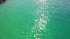 Shimmering waters in a tropical scene - stock footage