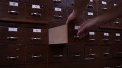 Index Cards Card Catalog Drawer Side View Stock Footage