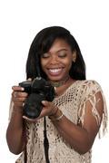 Young Woman Photographer Kuvituskuvat