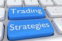 Trading Strategies concept Stock Illustration