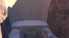 Hoover dam landscape, view from the bridge - Nevada, tilt footage Stock Footage