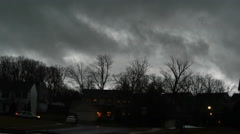 Fast Moving Dark Storm Clouds at Neighborhood, 4K Stock Footage