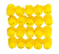 Abundance of easter chicks, top view - stock photo