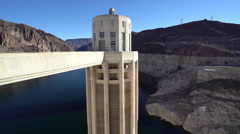 Hoover dam hydroelectric power station tower  - stock footage