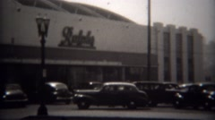 1946: Downtown Ralphs grocery store flagship grocery store. Stock Footage