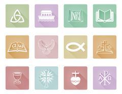 Christian Icons - stock illustration