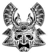 Samurai Mask - stock illustration