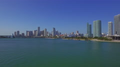 Aerial Downtown Miami and Museum Park Stock Footage