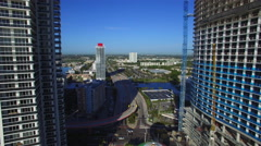 Aerial video of Hallandale Beach which is a coastal city Stock Footage