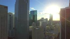 Aerial metrorail downtown miami Stock Footage