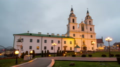 The Holy Spirit Cathedral in Minsk Stock Footage