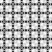Geometric seamless pattern with white black and grey diamonds Stock Illustration