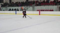 hockey penalty shot - stock footage