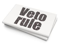 Political concept: Veto Rule on Blank Newspaper background - stock illustration