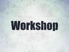 Stock Illustration of Studying concept: Workshop on Digital Paper background