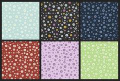 flower daisy pattern, chamomile pattern - stock illustration