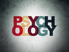 Healthcare concept: Psychology on Digital Paper background Stock Illustration
