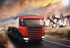 Oil truck - stock illustration