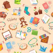Hobby And Handicraft Pattern - stock illustration