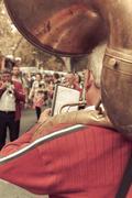 Marching band in Arles street, France Kuvituskuvat