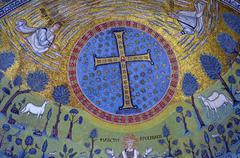 Ravenna, Italy - 18 AUGUST, 2015 - 1500 years old Byzantine mosaics from the  Stock Photos
