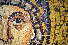 Ravenna, Italy - 18 AUGUST, 2015 - 1500 years old Byzantine mosaics from the  - stock photo