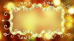 Glowing fancy banner loopable animation 4k (4096x2304) - stock footage