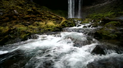 View of Tamanawas Falls and River Stock Footage