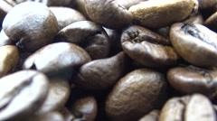 4k Roasted Coffee Beans Falling-Dan - stock footage