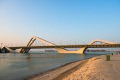 Sheikh Zayed Bridge, Abu Dhabi, UAE Stock Photos