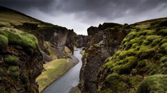 Storm over canyon timelapse Stock Footage