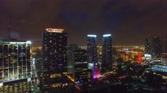 Miami Aerial Night DN Stock Footage