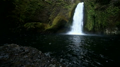 View of Wahclella Falls Stock Footage
