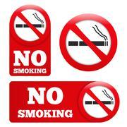 No Smoking Signs - stock illustration