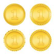 Golden Medals - stock illustration