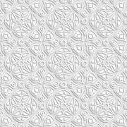Seamless geometric  pattern, indian ornament, persian motif Stock Illustration