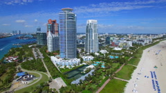 Beachfront Miami Beach condos Stock Footage