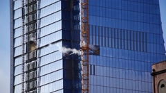 Building Exhaust Venting From New Skyscraper - stock footage