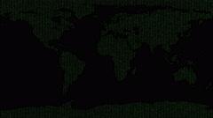 Binary Earth Map - stock footage