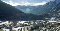 4K, Snowy mountains of Andorra - stock footage
