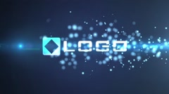 Blue Bokeh Particles Shatter Light Streak Logo Reveal Intro - stock after effects